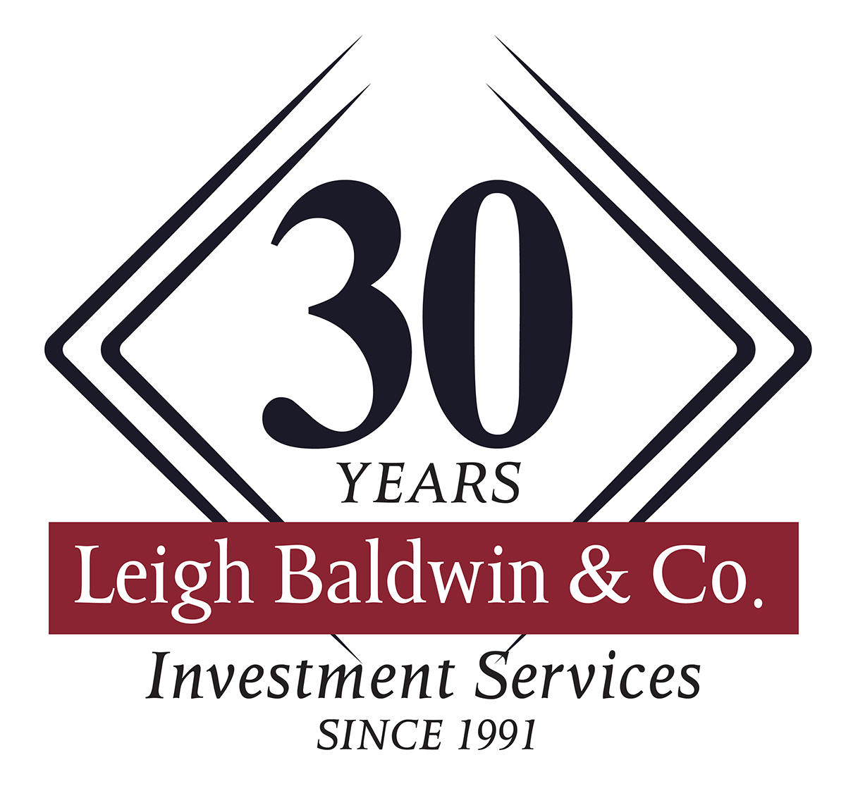 Leigh Baldwin & Co Investment Services - 30 Years Badge
